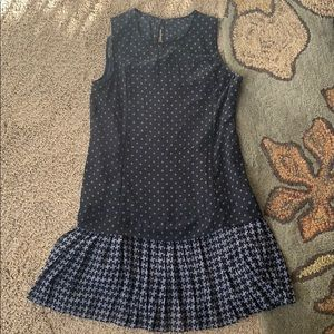 Abercrombie and Fitch navy blue geometric dress